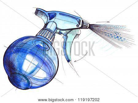 Spray Trigger, Atomizer, Sprayer, Pulverizer, Air Gun