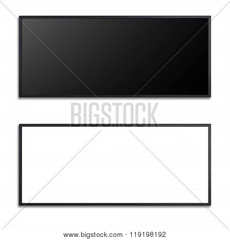 Blank Of Led Cinema Display Isolated On White Background