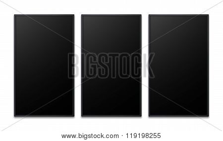 Vertical Flat Screen Of Promotion Display