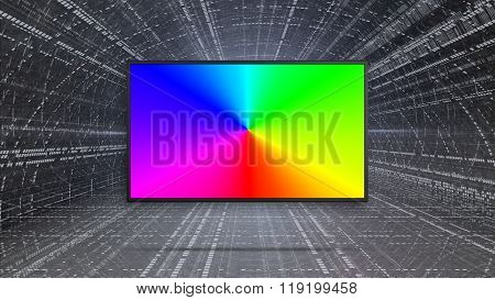 Rgb Colorful Led Tv Display Contrast