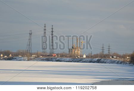 Coast Of The River Neva On The Outskirts Of St. Petersburg