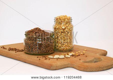 Buckwheat and pease