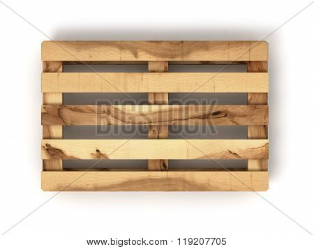 Wooden Euro Pallet Balls Isolated On White Background