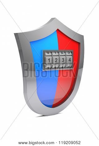 Concept Of Hacking  Protective Shield.