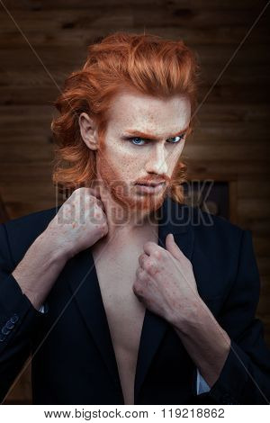 Man With A Bright Fiery Hair.