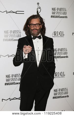 LOS ANGELES - FEB 20:  Timothy Omundson at the Make-Up Artists And Hair Stylists Guild Awards at the Paramount Studios on February 20, 2016 in Los Angeles, CA