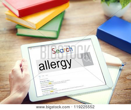 Allergies Reaction Aversion Medical Sensitive Concept poster