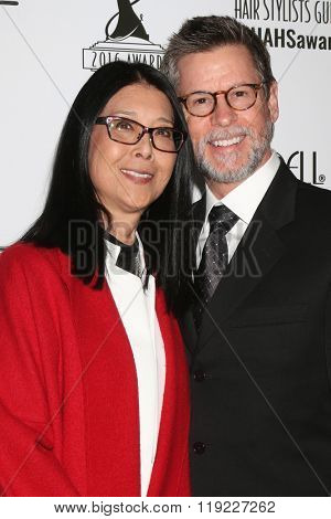 LOS ANGELES - FEB 20:  Christine Lai-Johnson, husband at the Make-Up Artists And Hair Stylists Guild Awards at the Paramount Studios on February 20, 2016 in Los Angeles, CA
