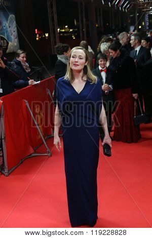 Jennifer Ehle attends the 'A Quiet Passion' premiere during the 66th Berlinale International Film Festival Berlin at Friedrichstadt-Palast on February 14, 2016 in Berlin, Germany.