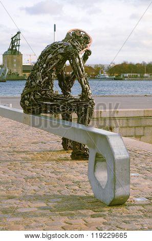 Zinkglobal Sculpture In Copenhagen