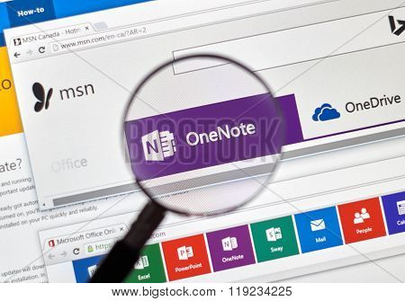 Microsoft One Note Online.