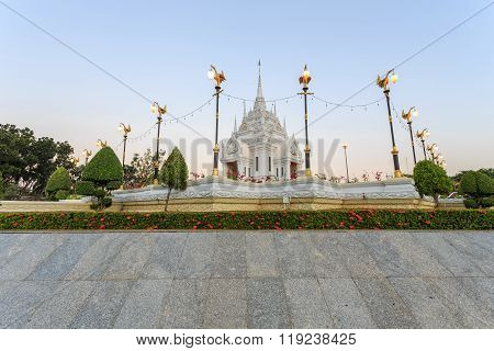 Surat Thani, Thailand - January 2 : The City Pillar Shrine Of Surat Thani Province On January , 2016
