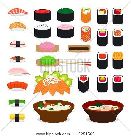Asia food icons