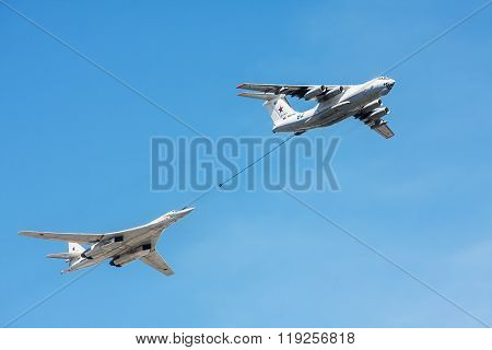 Tanker Il-78 And Strategic Bomber And Missile Platform Tu-160