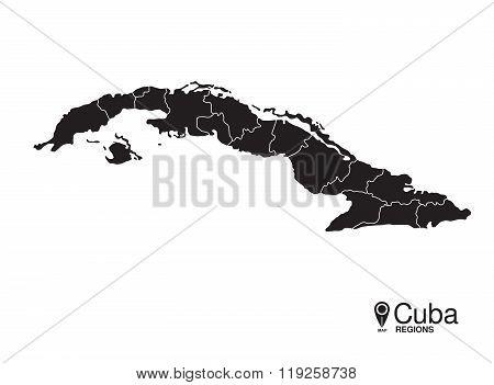Cuba Map Regions
