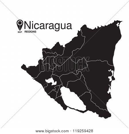 Nicaragua Map Regions