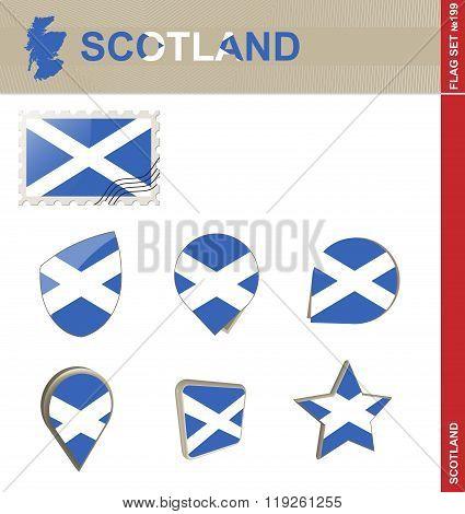 Scotland Flag Set, Flag Set
