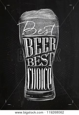 Poster Best Beer Chalk