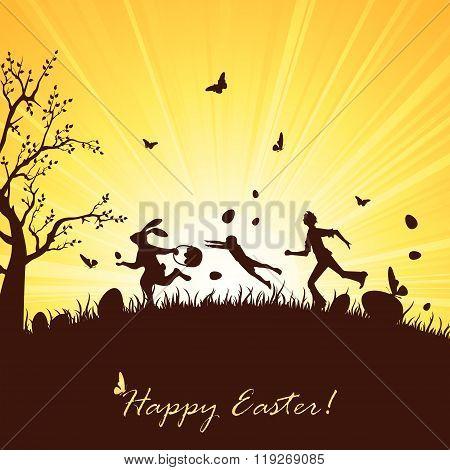 Runaway Easter Bunny