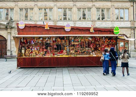Traditional Easter Market Stall During Easter Holidays
