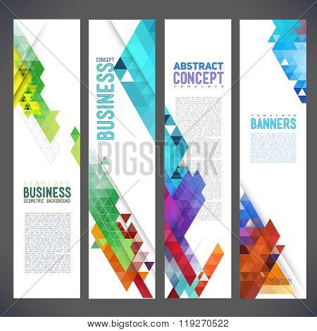 Abstract design banners vector template design brochure element