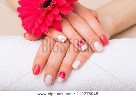 Woman with pretty nails