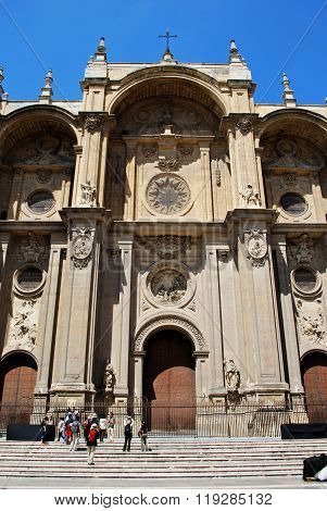 Granada Cathedral front.