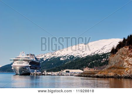 Cruse ship at Prince Williams Sounds Alaska