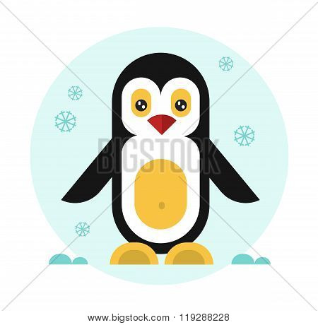 Cute penguin icon