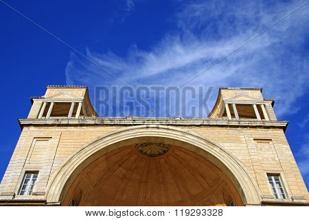 Vatican, Rome, Italy - December 20, 2012: Architectural Details Of Apostolic Palace, Facade Of The B
