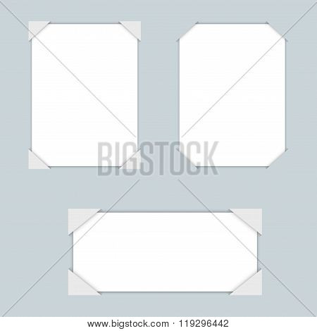 White blank papers