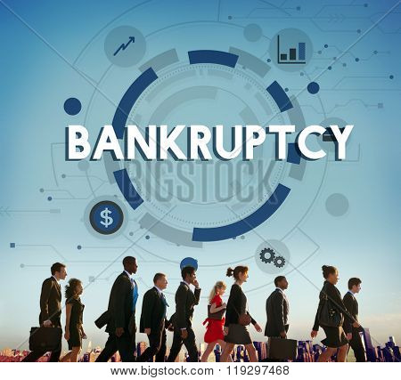 Bankruptcy Debt Loss Recession Financial Banking Concept
