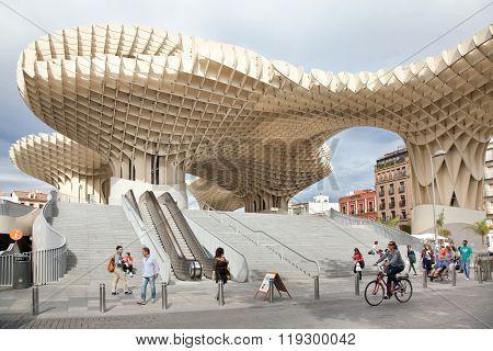 Metropol Parasol in Sevilla, Spain
