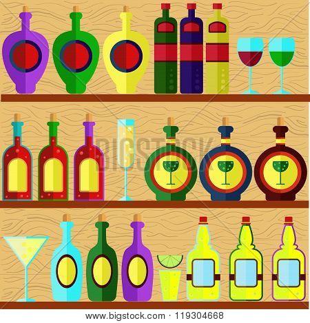 Bar shelf