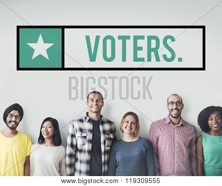 Voter Vote Voting Electing Poll Polling Choice Concept