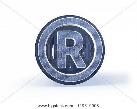 Registered Trade Mark Shopping Icon In Blueish Denim Look