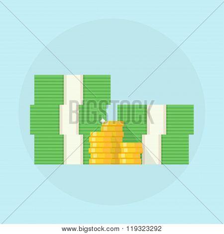 Cash Vector Illustration