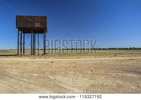 Water tower in the middle of the outback of Australia