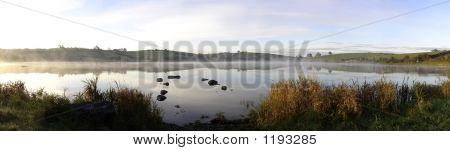 Misty Autumn Sunrise On An Irish Lake