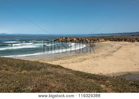 Sand beach at Fort Bragg, California
