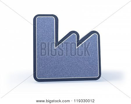 Fabric Shopping Icon In Blueish Denim Look