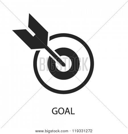goal icon, goal logo, goal icon vector, goal illustration, goal symbol