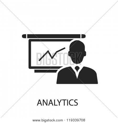analytics icon, analytics logo, analytics icon vector, analytics illustration, analytics symbol