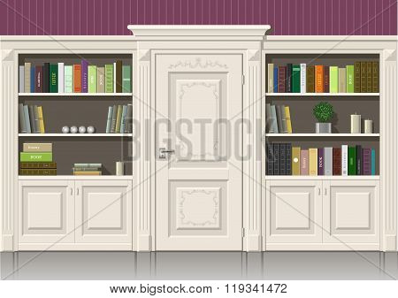 Book Wooden Cabinet