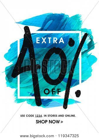 Stylish Sale Flyer, Banner or Pamphlet with 40% discount offer.
