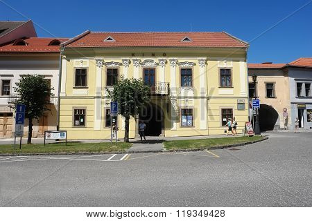 Building Of Kino In Levoca Town.