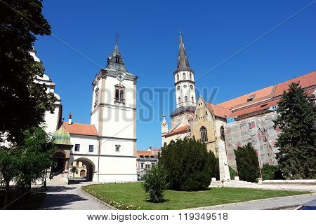 Old Place And With Church In Levoca.