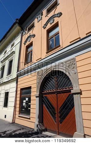 Old Door In Levoca Town.