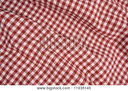 Rot / weiß karierten Picknick-Decke-Detail