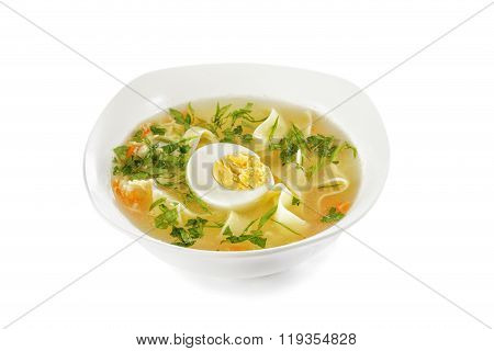 Chicken Noodle Soup With Egg